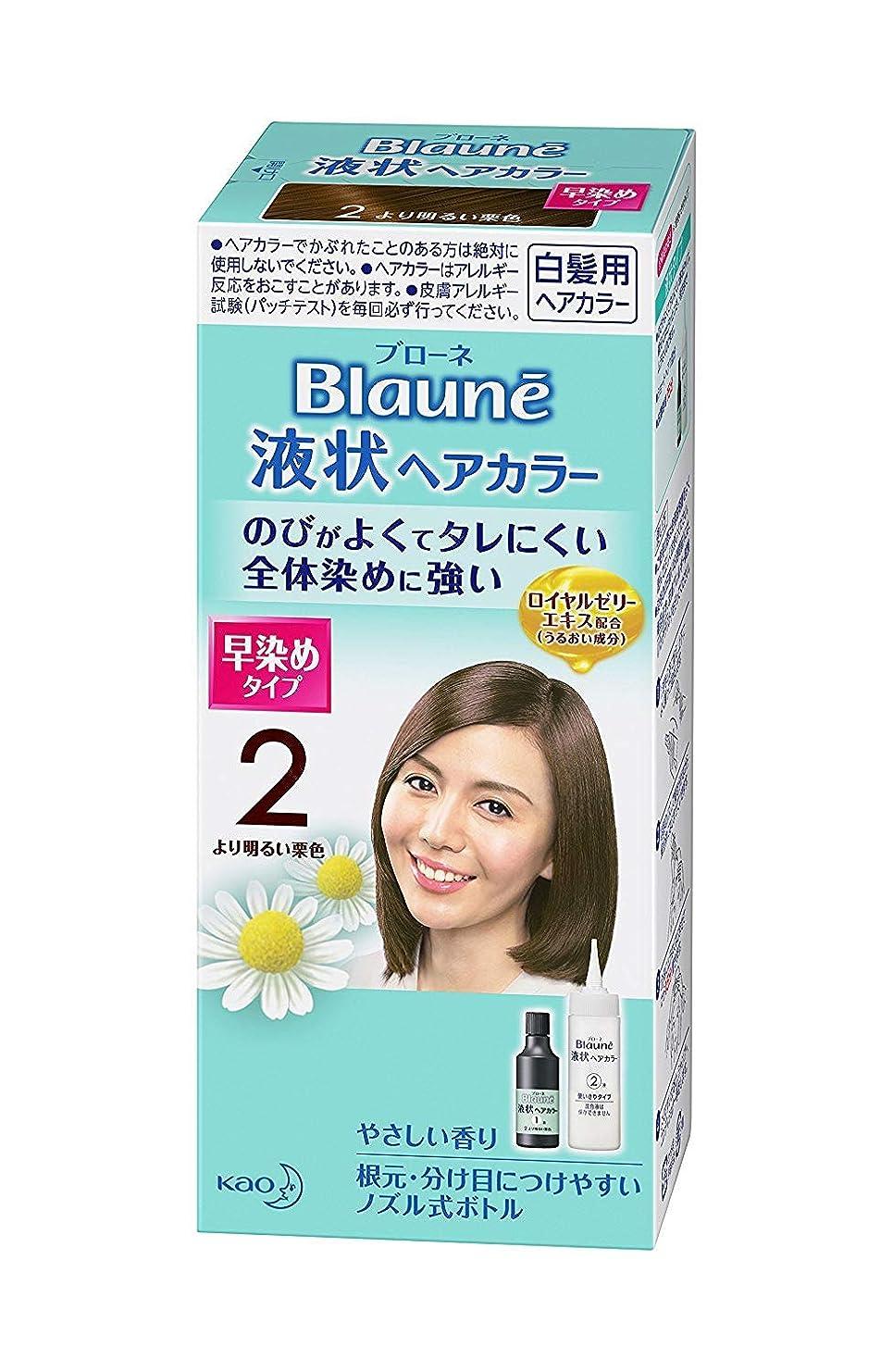 子フレームワーク印象【花王】ブローネ 液状ヘアカラー 2より明るい栗色 ×20個セット