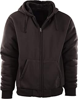 Mens Full Zipper Fleece Basic Hoodie with Lining (Many Designs to Choose from)