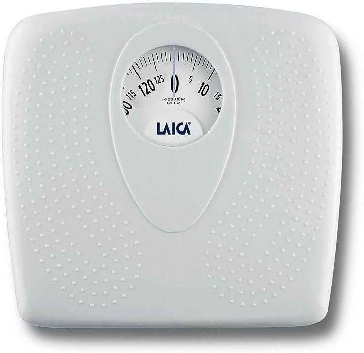 Bilancia pesapersone meccanica Laica pl8019 , 130 kg, colore bianco