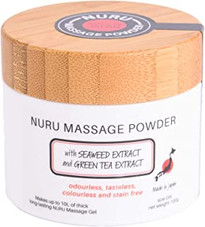 Massage Powder 100g with Seaweed Extract and Green Tea Extract Makes 10L Made In Japan