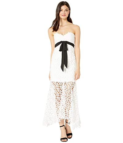 Bardot Midi Lace Bow Dress (Ivory) Women