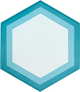 Rustico Tile and Stone RTS23 Hexagon Blue White Cement Tile Pack of 13, 8