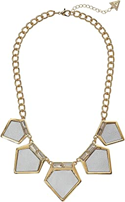 GUESS - Geometric Statement Necklace with Glitter Paper Detail