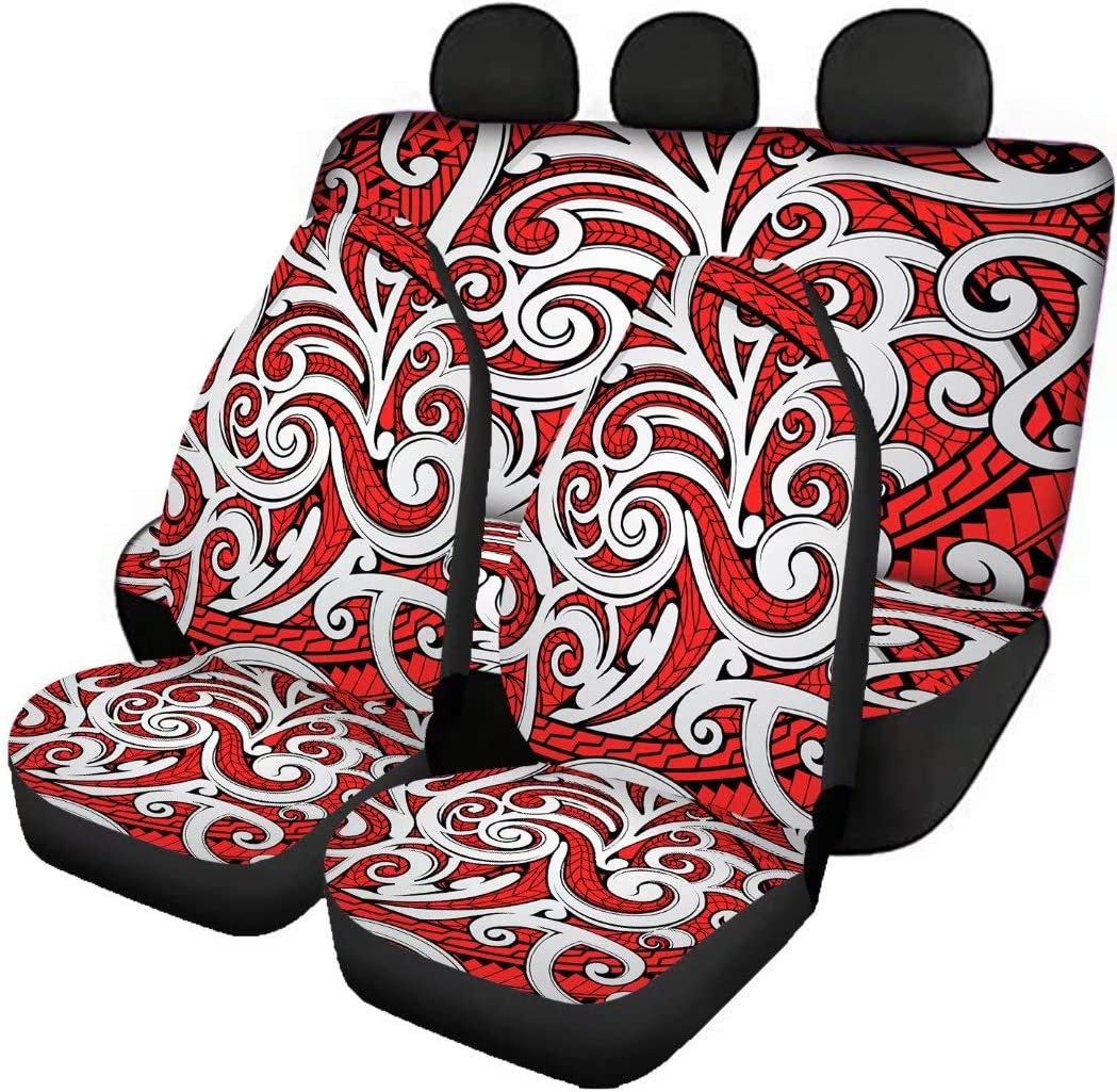 Deeprinter Samoan Tribal Sale SALE% OFF Pattern Front Covers Directly managed store Seat Rear Car Ben