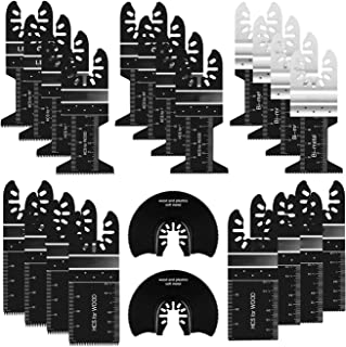 Sponsored Ad – 24 x Oscillating Saw Blades Professional Wood Metal Multitool Quick Release Saw Blades Kit for Metal Wood P...