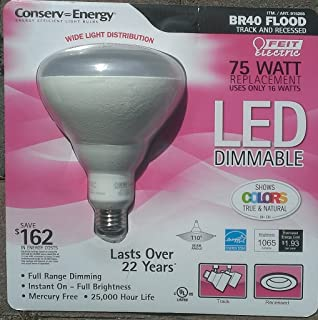 Feit Electric - BR40 Flood Light LED - 75 Watt Equivalent Replacement - Uses only 16 Watts - Dimmable (1)