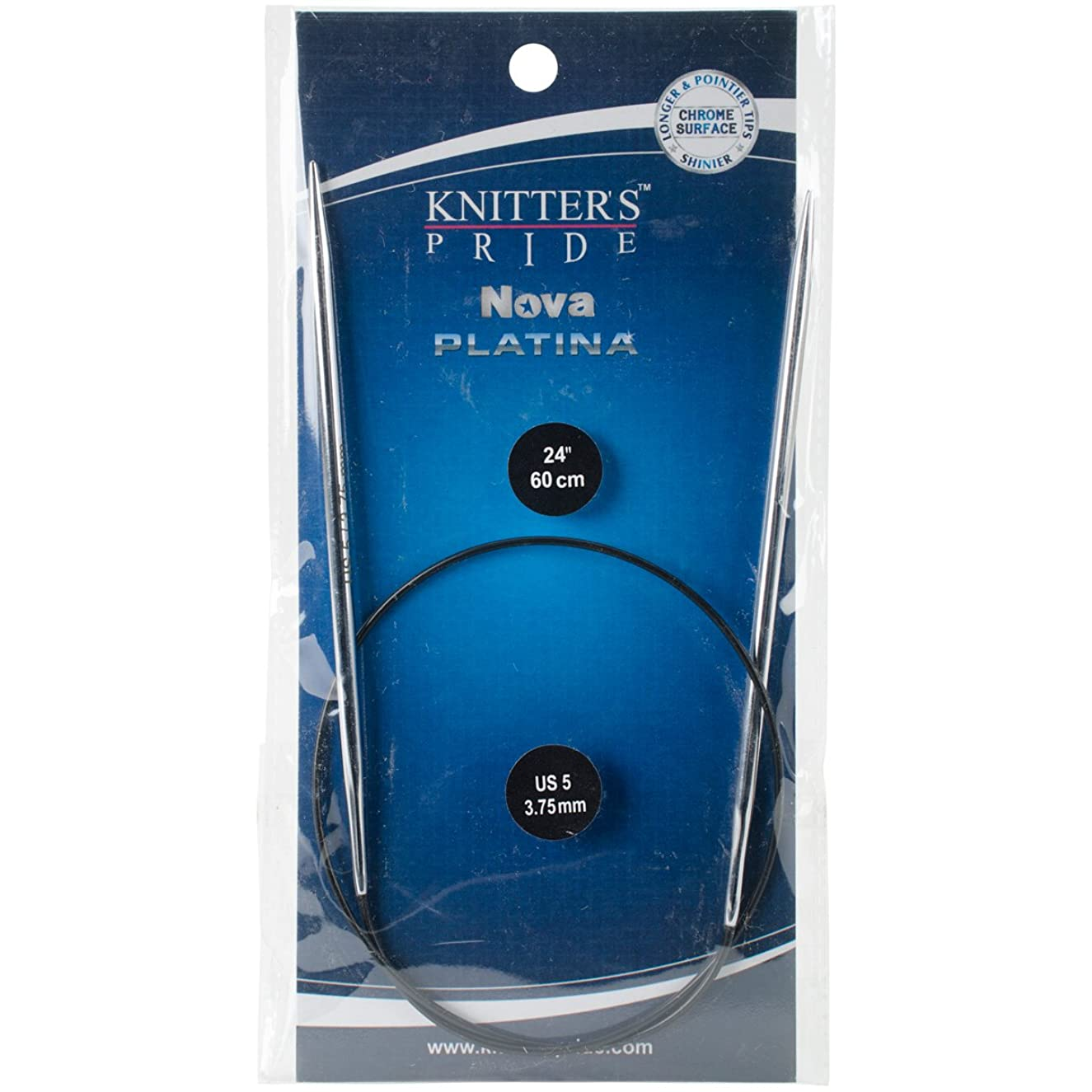 Knitter's Pride 5/3.75mm Nova Platina Double Pointed Needles, 24