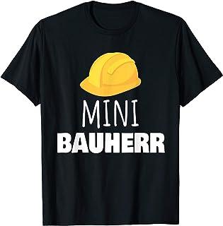 Hausbau & Richtfest Outfit Mini Bauherr mit Helm I Lustiges Kinder Baustellen T-Shirt