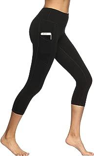High Waist Yoga Pants, Pocket Yoga Pants Tummy Control Workout Running 4 Way Stretch Yoga Leggings
