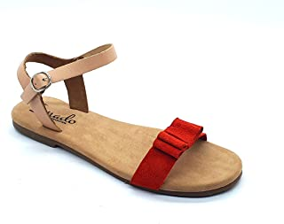irnado Kids Genuine Suede Leather Comfortable Flats/Sandals for Girls