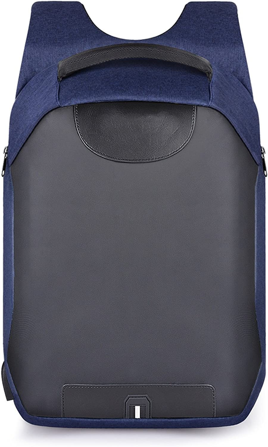 Laptop Backpack USB Charging Port School Rucksack AntiTheft Water Resistant Polyester School Bags, bluee