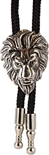 Knighthood Men's Silver Lion Head Collar Accessories/Bolo Ties/Neck Ties