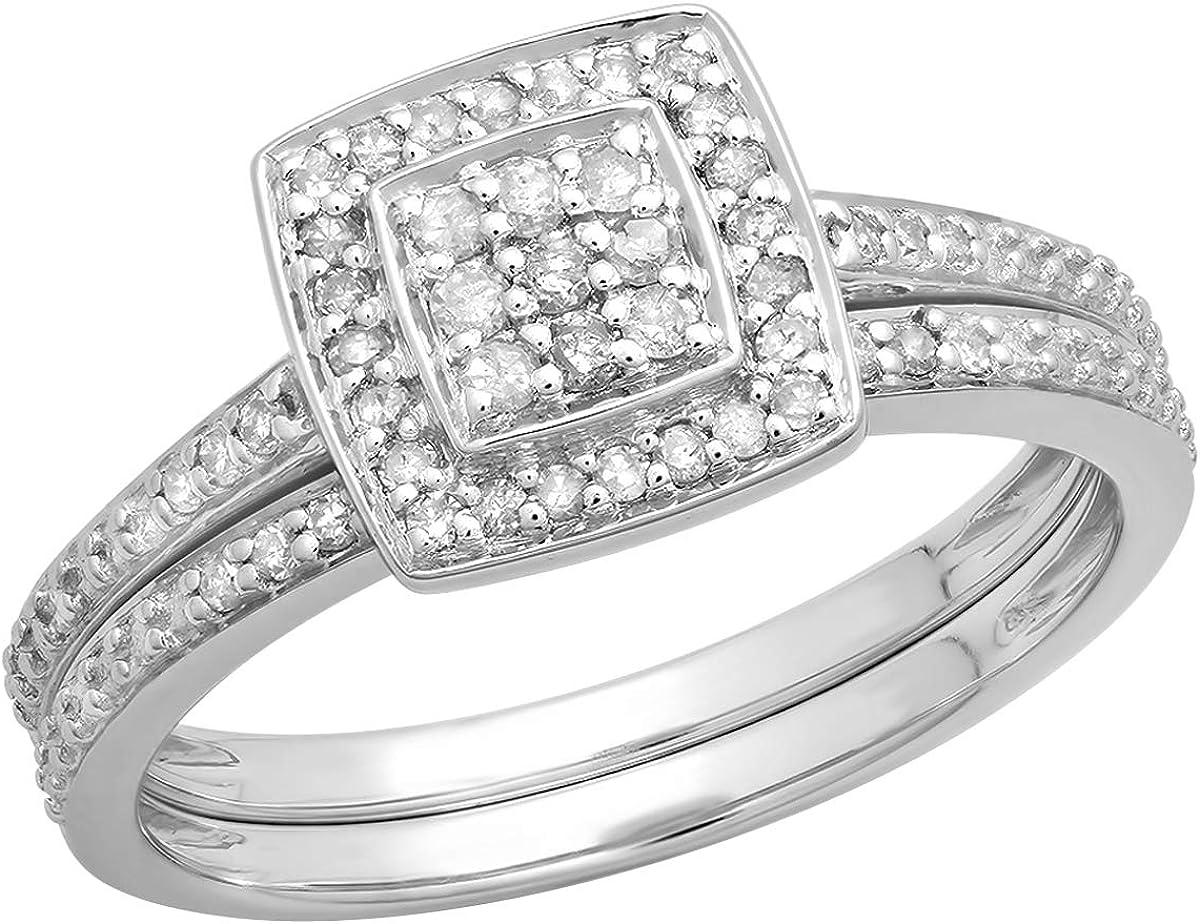 Dazzlingrock Collection Limited price 0.28 Carat ctw Lad Diamond White Round Ranking TOP4