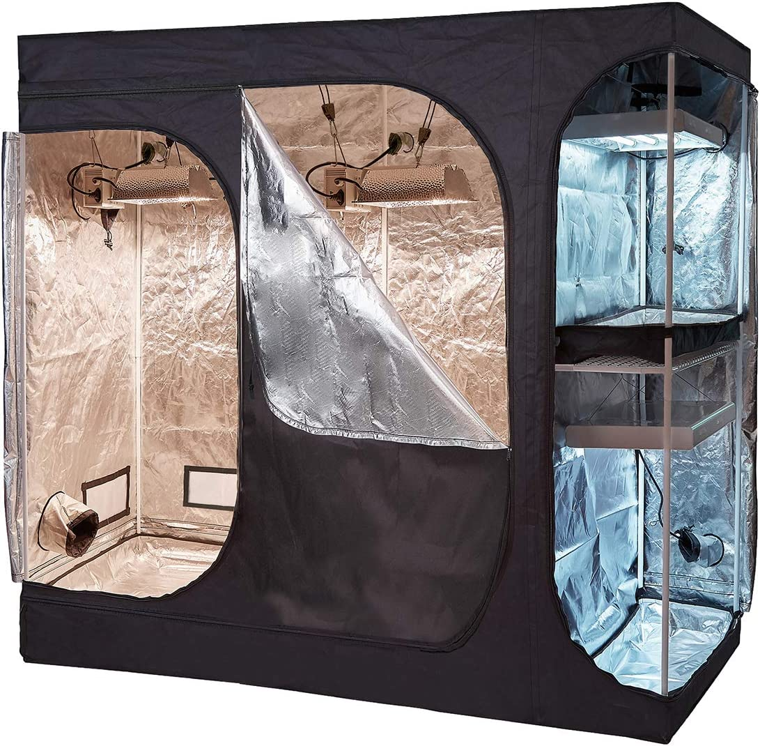 cdmall 108''x48''x80'' Grow Tent 2021 new Limited price 2-in-1 Lodge and Fl Propagation