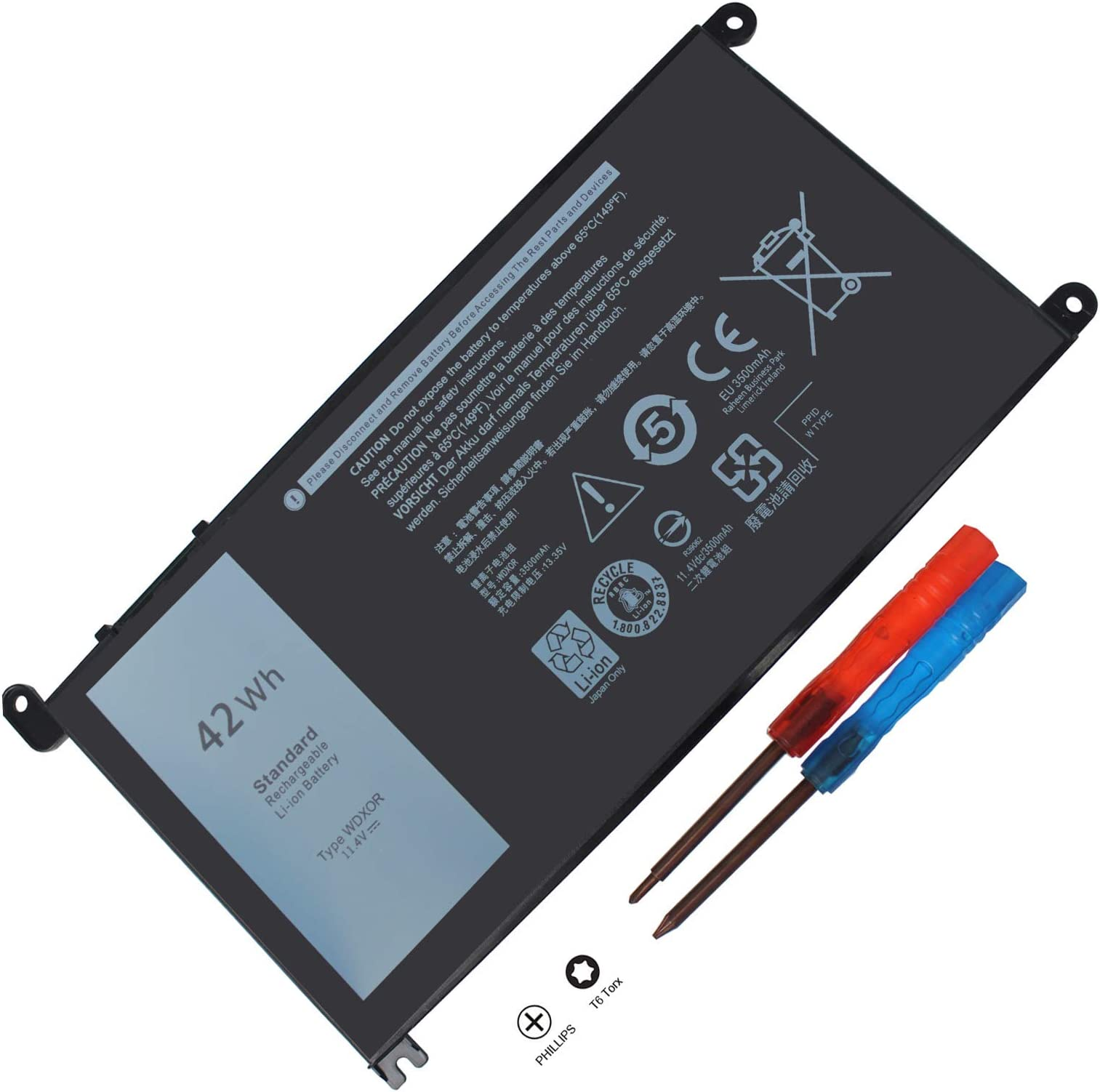 Amazon Com Swealeer Wdx0r Battery Compatible With Dell Inspiron 15 5568 7560 5567 13 5368 5378 7368 7378 14 7460 Laptop Replacement 3crh3 T2jx4 Fc92n 11 4v 42wh 3500mah Wdx0r Electronics