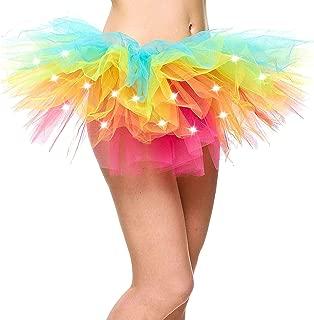Jasmine Women's LED Light Up Neon Tulle Tutu Skirt