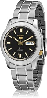 Men's SNKK17 Stainless Steel Analog with Black Dial Watch