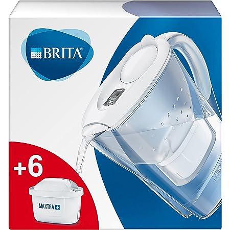 BRITA Carafe filtrante Marella blanche - 6 filtres MAXTRA+ inclus