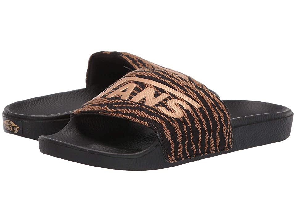 Vans Slide-On ((Woven Tiger) Black) Women
