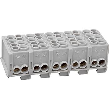 5-polig Hauptleitungsabzweigklemme 2x25//2x16mm² DIN-Schiene