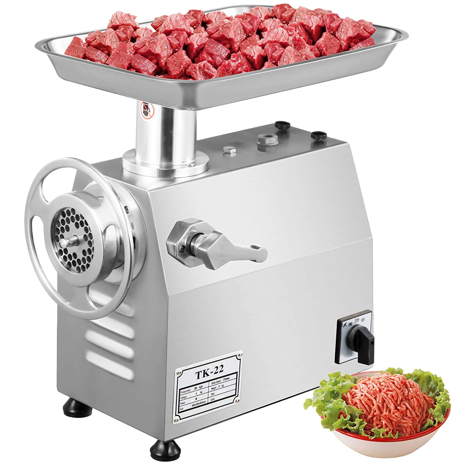 Happybuy Electric Meat New product!! Grinder 850W Commercial H Sausage 550Lbs Award-winning store