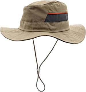 63d2455f7be8ca Decentron Men's Sun Hat UPF50 Wide Brim Quick Dry Boonie Hat Mesh Top  Safari Hat