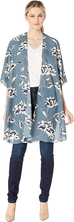 Printed Flutter Kimono