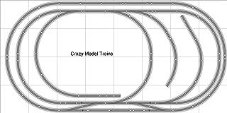 Train Layout #009 Bachmann HO EZ Track (NS) Nickel Silver - 4' X 8' NEW - Train Set BAC-HO-GR-L009