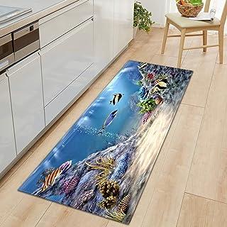 HLXX Köksmatta entré dörrmatta sovrum hem golv dekoration vardagsrum matta badrum halkfri matta A4 50 x 160 cm