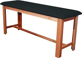 3B Scientific W15074B Black Hardwood Classic Exam Treatment Table with H-Brace, 74.8
