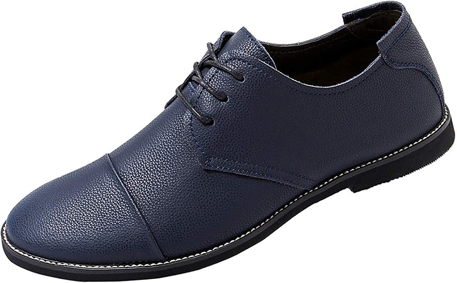 Hhgold Men's shoes From Lace Derby shoes Are Stylish And Comfortable (color   bluee, Size   43EU)