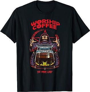 Worship Coffee - Drink Coffee Kaffee Arabica Geschenk Spruch T-Shirt