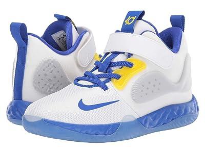 Nike Kids KD Trey 5 VII (Little Kid) (White/Racer Blue/Opti Yellow/Wolf Grey) Kids Shoes