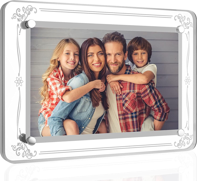 Mixoo 4x6 Picture Frame - Multi-purpose Acrylic Glass Photo Fram