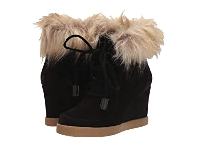 Cecelia New York Holly (Black Faux Fur) Women