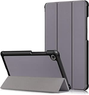 Gylint Lenovo TAB M7 Case, Smart Case Trifold Stand Slim Lightweight Case Cover for Lenovo TAB M7 Tablet Gray