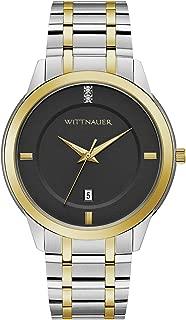 Wittnauer Continental Men's Quartz Double-Diamond Accent Two-Tone Bracelet 42mm Watch WN3089