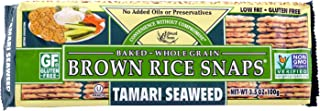 Edward & Sons Brown Rice Snaps Tamari Seaweed, 3.5 Ounce Packs (Pack of 12)