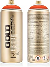 Montana Cans 283826 Montana Spray blik goud 400ml -FLUORESCENT kleuren, Gld400-f2000-Power Oranje