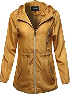 Awesome21 Women's Outerwear Hooded Drawstring Military Jacket Parka Coat
