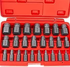 KCHEX>Multi Spline Screw Extractor 25pc Set Hex Head Bit Socket Wrench Bolt Remover>Hex head multi-spline extractors remove broken studs, pipes, screws, alemite fittings, etc