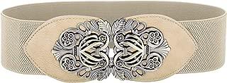 Vintage Plus Size Stretchy Belt Apricot Belt for Women,X-Large, Apricot
