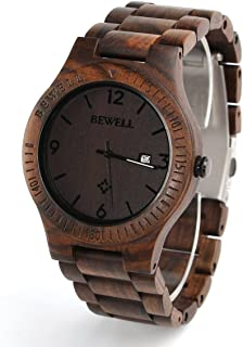 Wooden Watch for Men Natural Watch Analog Quartz Lightweight Handmade Casual Retro Wood Wrist Watch