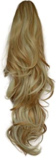 """22"""" Ponytail - Flick - Strawberry Blonde Mix #27/613 - Claw Clip Attachment - Reversible 2 Styles in 1 - Clip in Hair Piec..."""