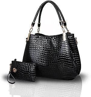 New Crocodile Grain PU Leather Women/Ladies Shoulder Bag Handbag Crossbody Totes Large Bag