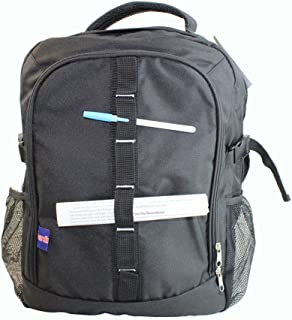 BoardingBlue Personal Item Laptop Backpack for America, Spirit, Frontier Airlines (Black)