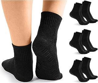 Non Slip Socks for Men | 6 Pairs Gripper Socks | Anti Skid Grip for Yoga & Pilates