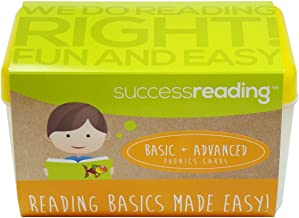 Success Reading's Basic and Advanced Phonics Cards, for Parents and Teachers to Help Children Learn to Read From PreK, Kindergarten, First Grade, Second Grade and Older.