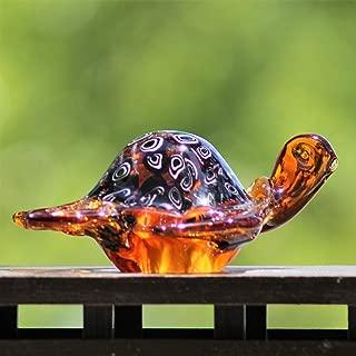 Hand Blown Art Glass Sale, 6-inch Glass Turtle by Deco4Sale