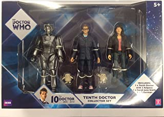 Doctor Who Tenth Doctor Collector Action Figure Set: 10th Dr, Cyberman, Sarah Jane Smith, 2 Adipose